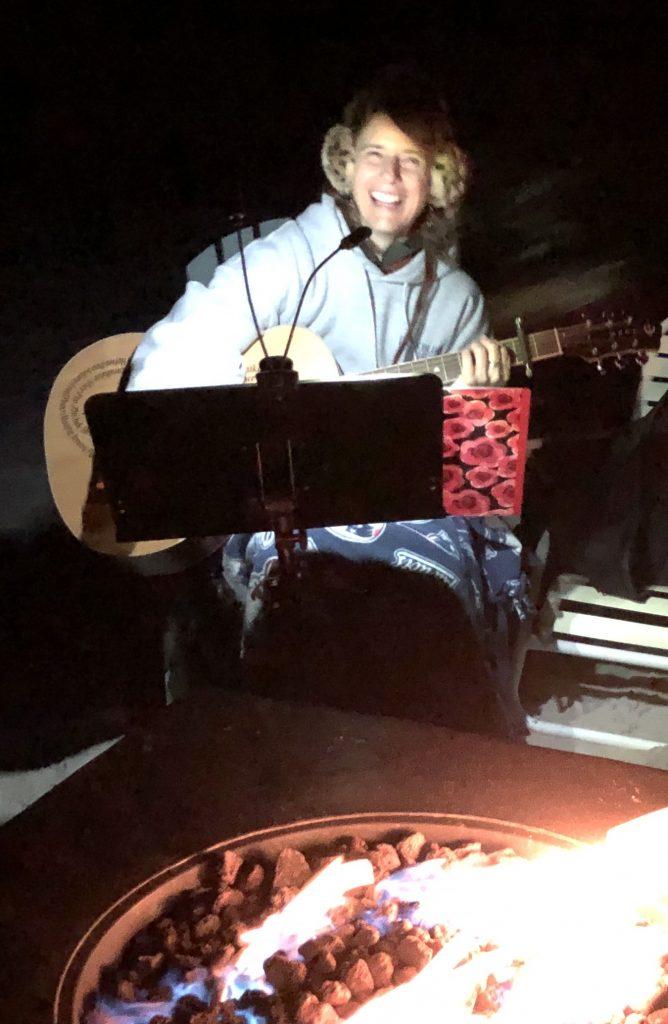 ellie guitar fire joy weekend